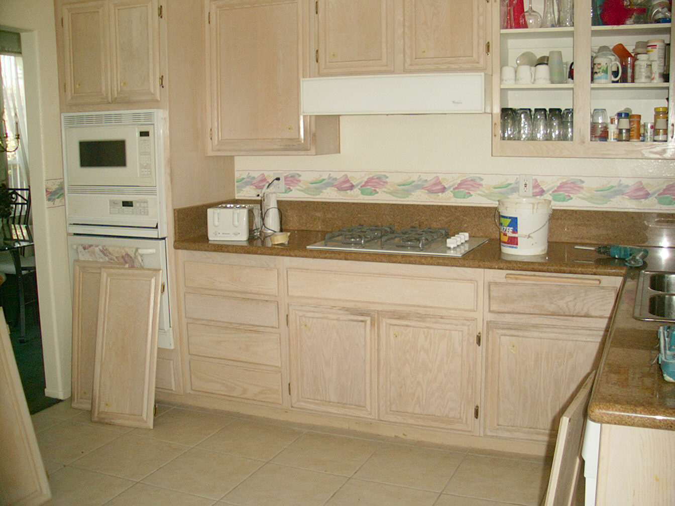 Cabinets and wood stain and white wash cabinet wood for Bleached wood kitchen cabinets